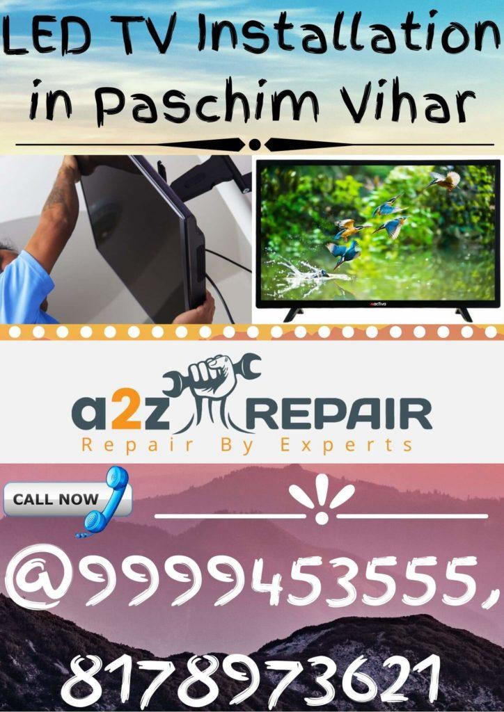 LED TV Installation in Paschim Vihar