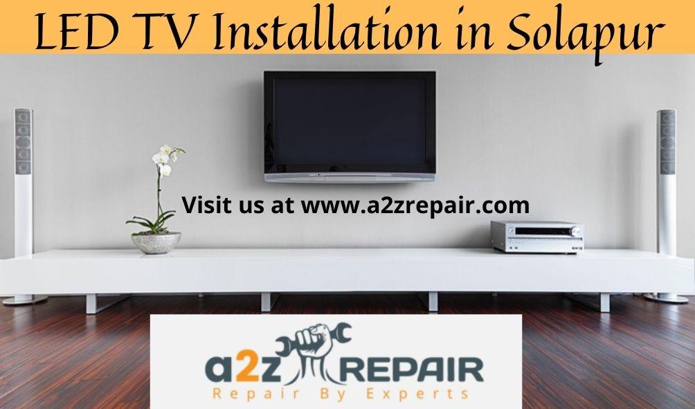 LED TV Installation in Solapur